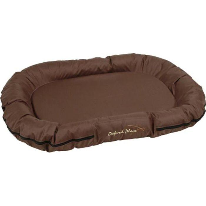 Coussin Oxford Place pour chien - Tissu Oxford - Dimensions : 100 x 70 x 15cm - Coloris : brun.CORBEILLE - PANIER - COUSSIN - HAMAC - LIT