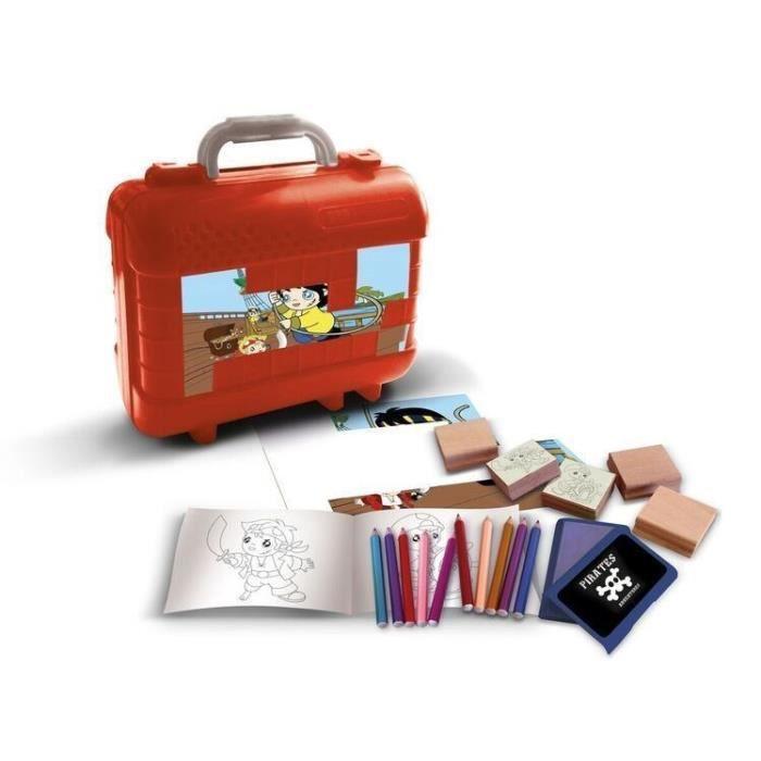 PIRATES Malette de timbres et dessins