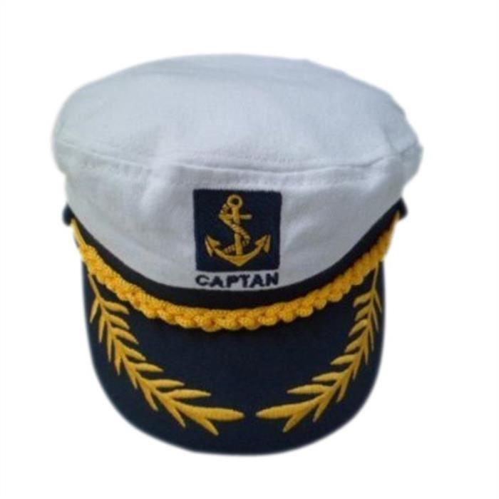 date de sortie: sortie en ligne mieux aimé Chapeau Marin Casquette Captaine Marine Unisexe Yacht ...