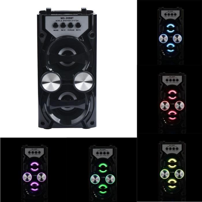 Ouniondo® Extérieur Sans Fil Bluetooth Haut-parleur Portable Super Bass Avec Radio Usb - Tf Aux Fm Noir_poi314