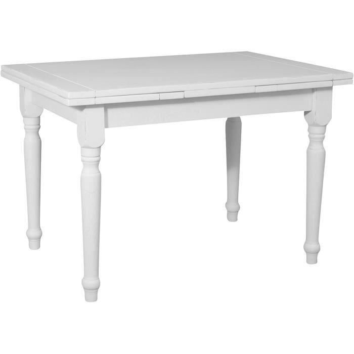 Bois En Cm Extensible De 120x80x80 Antique Pays Tilleul Fini Table Tables Blanc dhxBCrtsQo