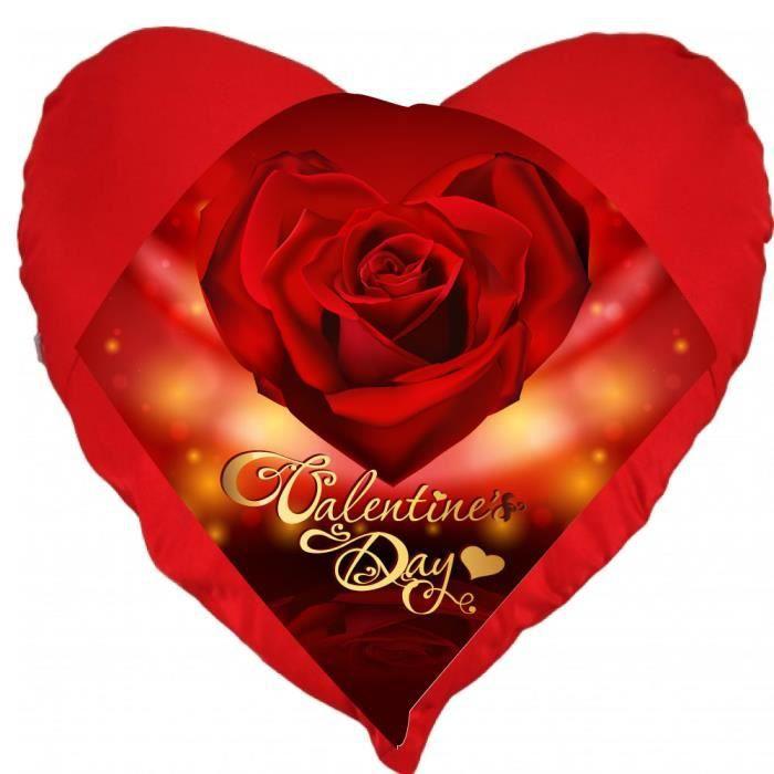 Coussin st valentin coeur valentine day rose un cadeau ideal pour la saint valentin achat - Coeur pour la saint valentin ...