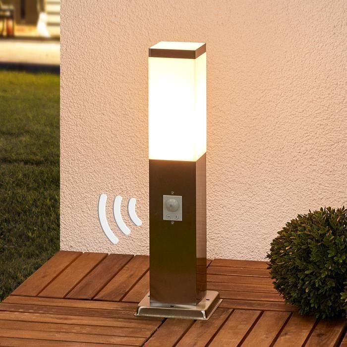 Luminaire pour socle en inox Lorian avec détecteur - Achat / Vente ...