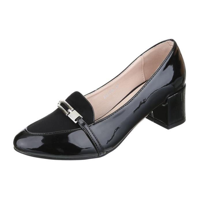 Femme escarpin chaussures classique conf Noir Noir - Achat   Vente ... aa5614989fca