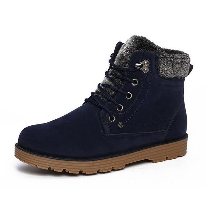 Winter Lace-up Ankle Waterproof Fur Snow Boots W3DHK Taille-42 goE9xXP5