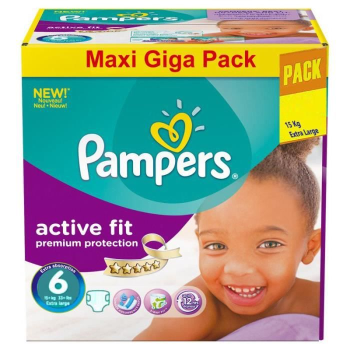 Gros Pack 248 Couches Pampers Active Fit Taille 6 Achat Vente
