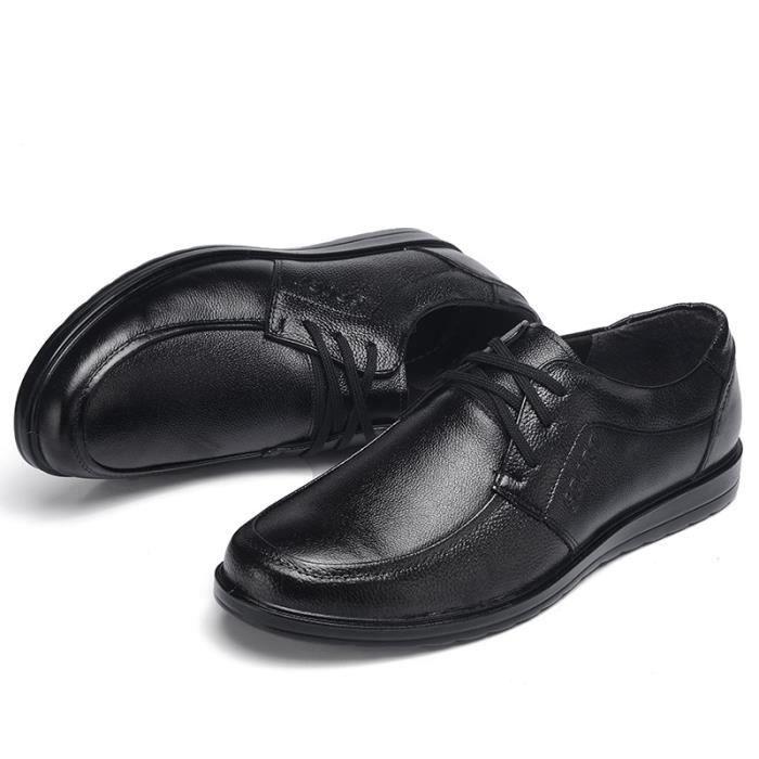 JOZSI Chaussures Homme Cuir Confortable mode Homme chaussure de ville LKG-XZ210Noir42 8n4Ru9MN