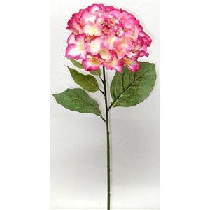 FLEUR ARTIFICIELLE Tige d'Hortensia artificielle - Rose - Hauteur 67