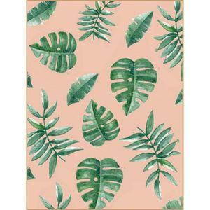 TABLEAU - TOILE Tableau déco glossy Jungle Herbier - 30 x 40 cm