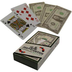 CARTES DE JEU Jeu 54 Cartes Fun Aspect Billet 100 Dollars idé…