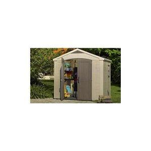 ABRI JARDIN - CHALET Abri de jardin en résine SYDNEY 86, 4,7m2 taupe