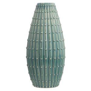 VASE - SOLIFLORE Vase en céramique vert-bleu 33 cm DELFIA