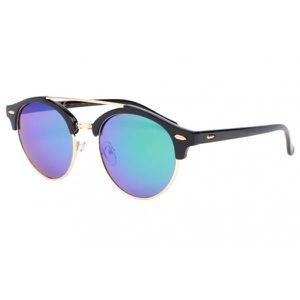 Eye Wear Lunette de soleil ronde miroir bleu Obladi - Mixte XSGMVf