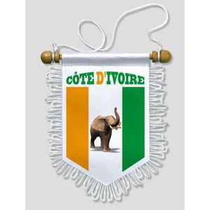 DRAPEAU - BANDEROLE Fanion Voiture Elephant Cote d' Ivoire 13 x 15 cm