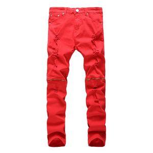 Homme Achat Pas Vente Jeans Cher Rouge 7qBznxwF