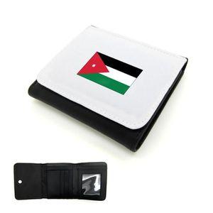 outlet store 8cdc2 7a4db PORTEFEUILLE Portefeuille homme cuir PU drapeau jordanie Mygood
