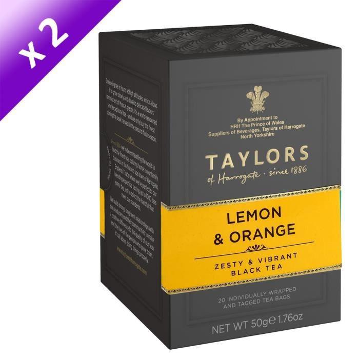 TAYLORS Thé au Citron et à l'Orange - 20 sachets - 50 g x2