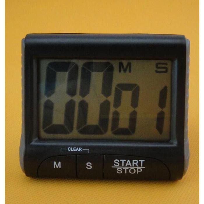 Horloge De Compte à Rebours Numérique Portable Grand écran LCD Alarme Pour  Cuisine Cook KL2382