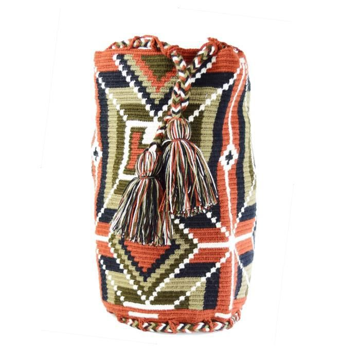 Wayuu Sac - Grand Mochila - Cordon de serrage - 2077 UZ17I
