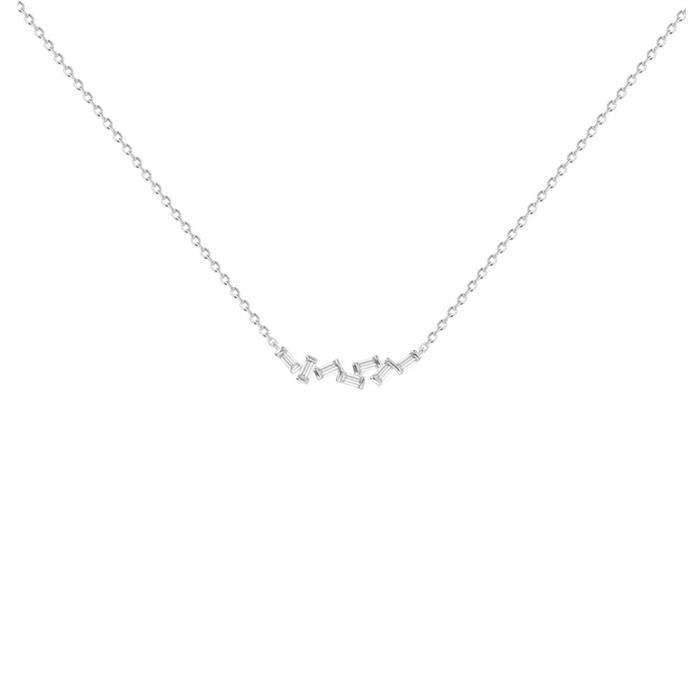 Collier Argent 925/000 Ox Zirconium - PHEBUS&Co -ATHENES - 60700003