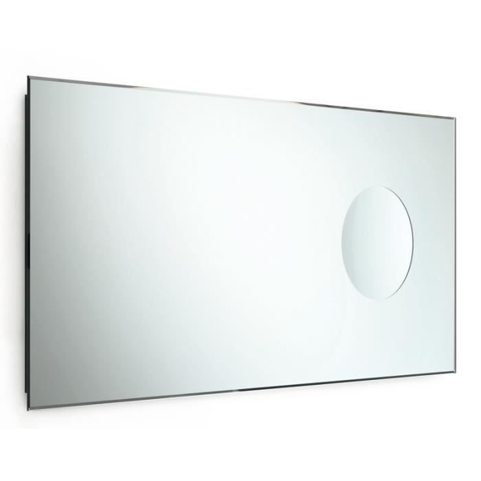 Miroir biseaut avec miroir grossissant achat vente for Miroir soldes
