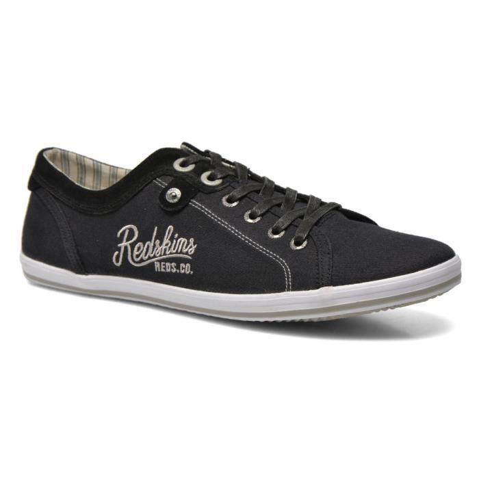 REDSKINS Baskets Textile Habor Chaussure Homme Noir et blanc - Achat ... ba806a564662