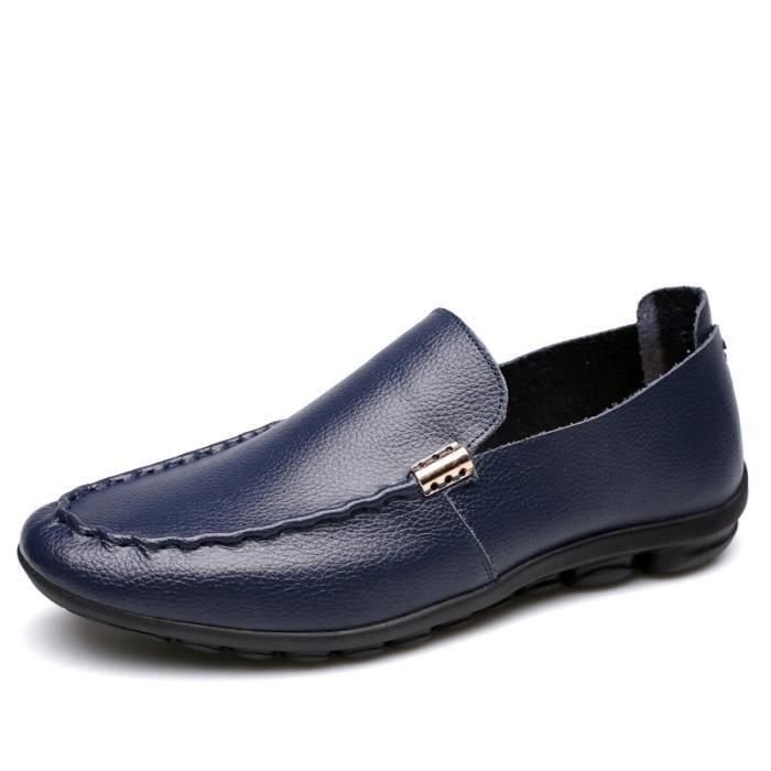 Chaussures Mocassins cuir Homme Chaussures Bleu