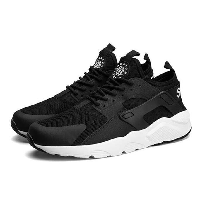 Basket Hommes et femmes chaussures de sport Chaussures de course Respirant- CasualChaussures - Noir blanc