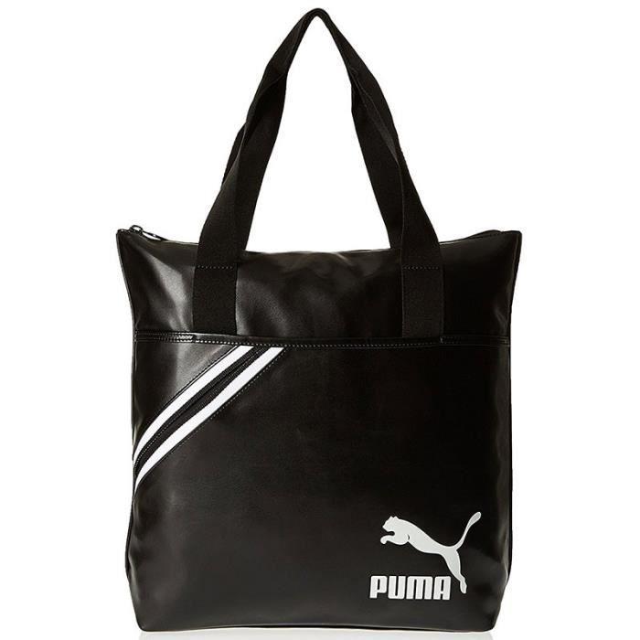 SACOCHE ARCHIVE SHOPPER BLK - Sac cabas Femme Puma U Noir ...