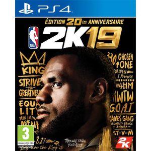 JEU PS4 NOUVEAUTÉ NBA 2K19 Édition 20ème anniversaire Jeu PS4