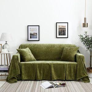 HOUSSE DE CANAPE   Housse de canapé, 200x200cm Vert, extensible cli