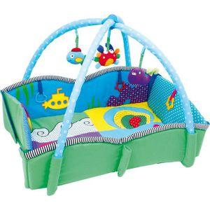 TAPIS ÉVEIL - AIRE BÉBÉ Tapis d'éveil «Pulpino» enfant bébé 5 jouets peluc