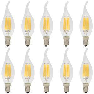 AMPOULE - LED 10X E14 Edison Retro LED 6W Ampoule Filament C35 V