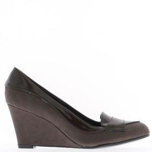 KRISP Femmes Escarpins Compensés Chaussures Ville Cuir Plateforme Vernis Brillant Mode dXpVA