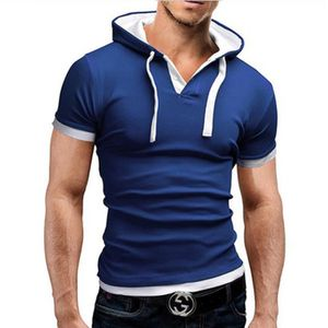 POLO Capuche Polo Hommes Manches Courtes Slim Fit Polo 728d3b1bf11
