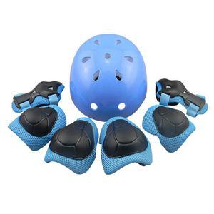 KIT PROTECTION 7Pcs Ensemble coude poignet genouillères et casque