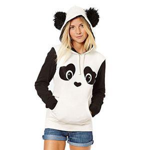 Manteau Oreille Panda À Mignon Chaud Capuche Ours Sweat D'hiver Hwqtn