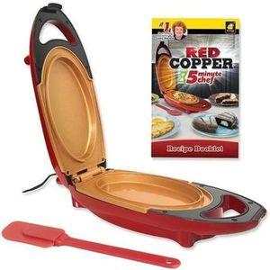 CUISEUR À OEUF Red Coppe5 Minute Cooker + Spatule –Mini Cuiseur é