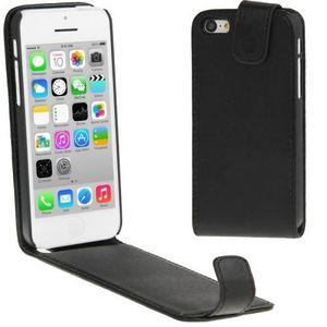 HOUSSE - ÉTUI Etui vertical simili cuir noir pour iPhone 5C