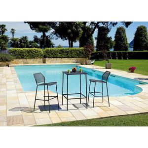 Ensemble table haute jardin - Achat / Vente pas cher -