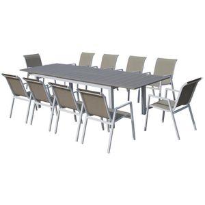 Table de jardin aluminium extensible chaises - Achat / Vente pas cher