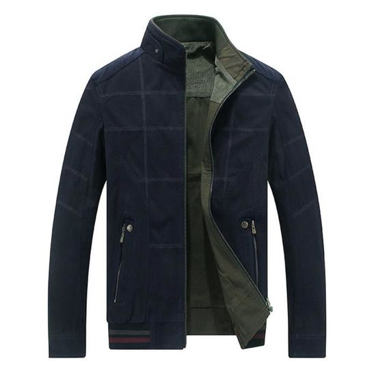 Veste Homme En Vêtement Réversible Montant Mode Coton Col Printemps Casual 6a4F6r