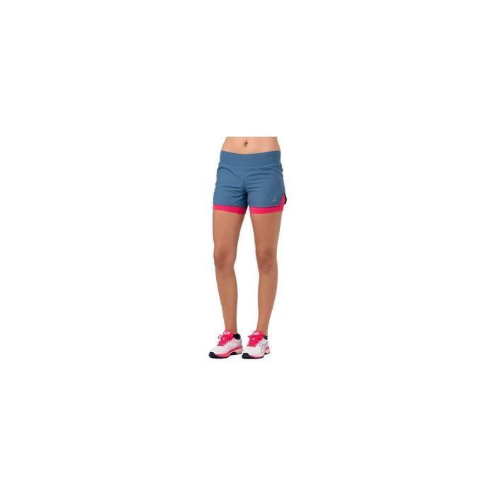 Short Running ASICS Femme Cool 2in1 3.5 short Bleu AH 2018