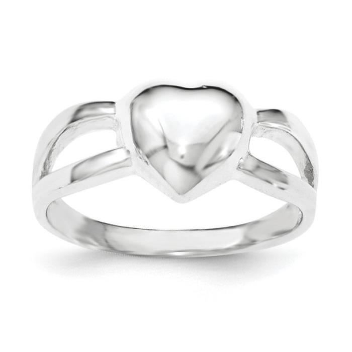 Coeur-Argent 925/1000 poli-Taille 1/2–N
