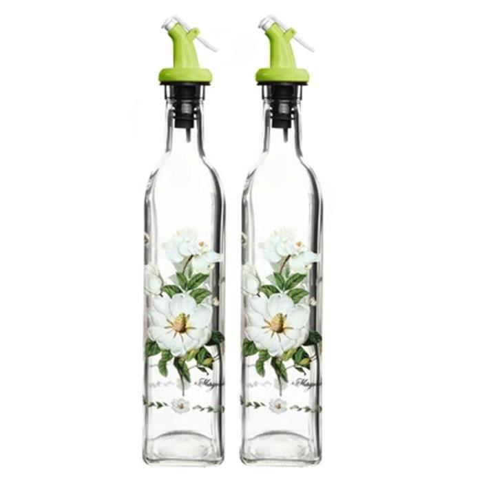 VINAIGRETTE 2PCS Huile de fleur Distributeur Vinaigre Jar Bout