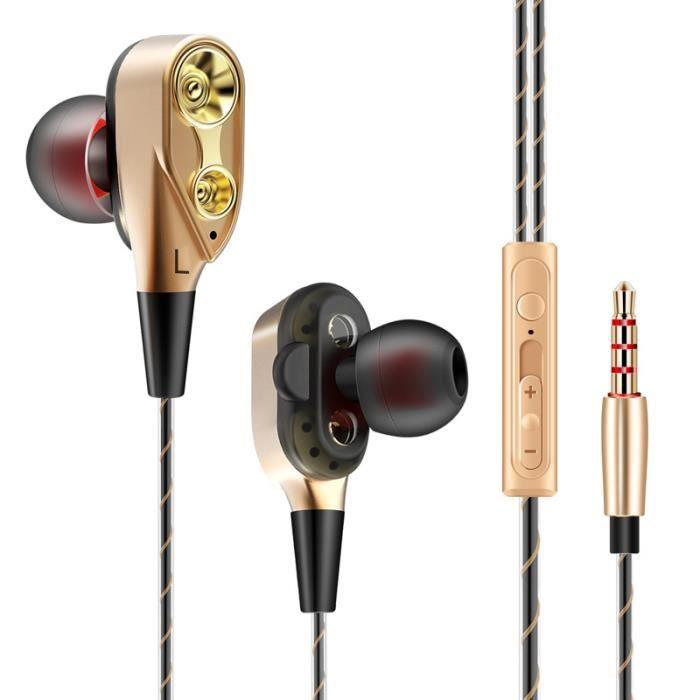 écouteurs Intra Auriculaires Bobine à Double Effet Réduction Du