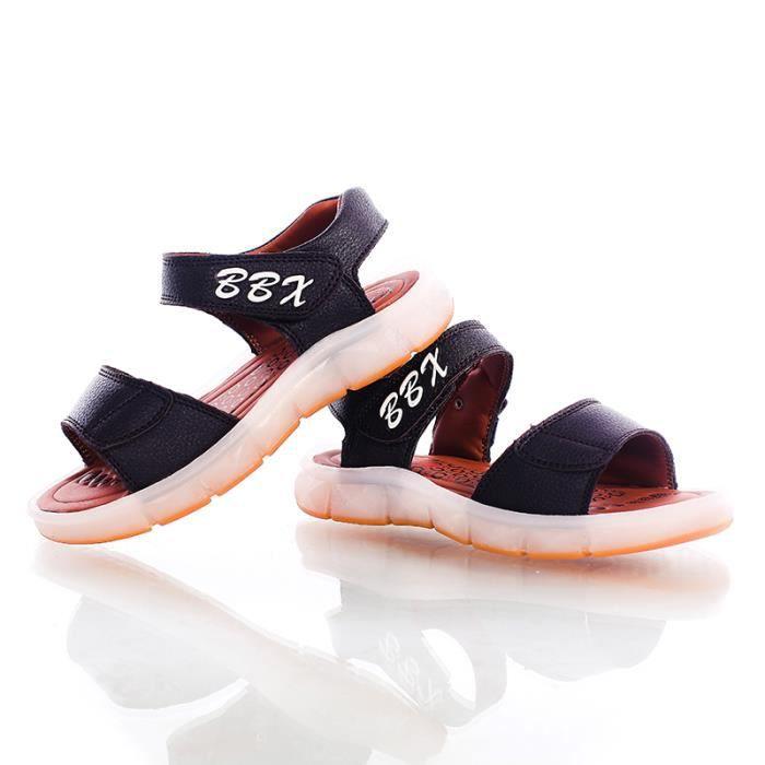 HuskSware® Mode enfants USB charge sandales enfants LED lumineux sandales garçons filles de colorful clignotant lumières sneakers