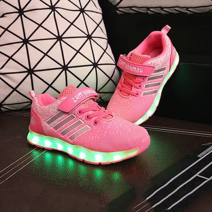 Basket LED Chaussure Enfant Lumineux Chaussures Garcon Fille Puqq9CcSVS
