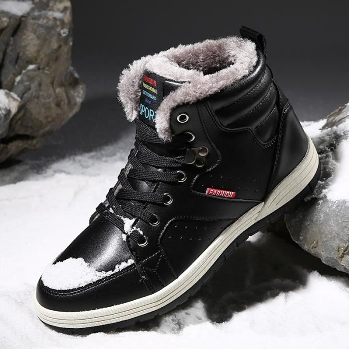 Mode Martins Bottes d'homme Chaussures High Top Chaussures de randonnée Bottes de neige chaudes 5XncPw