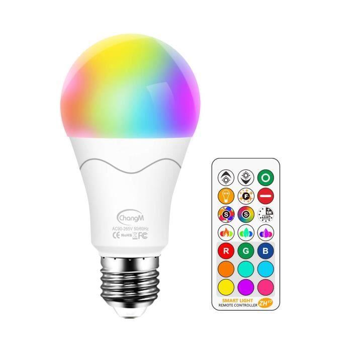 De E27 10w Led Rgbwrouge Vert Ampoules Bulbs Couleur Bleu BlancChangement Et Lampes Dimmable Magique BCWrdoex